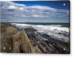 Rocky Shore Line Two Lights Maine  Acrylic Print