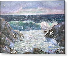 Rocky Shore Acrylic Print by Nicholas Minniti