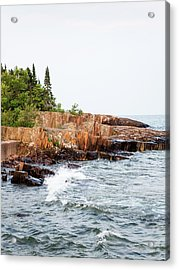 Acrylic Print featuring the photograph Rocky Shores by Whitney Leigh Carlson
