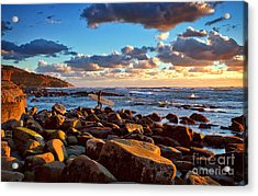 Rocky Surf Conditions Acrylic Print