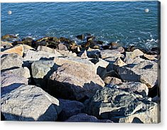 Rocky Water Acrylic Print by Extrospection Art