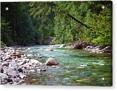 Rocky Waters In The North Cascades Landscape Photography By Omas Acrylic Print by Omaste Witkowski