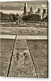 Rocky's Footprints Acrylic Print