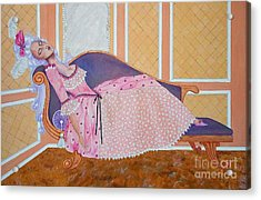 Rococo Coquette -- Mme. Pompadour, #2 In Famous Flirts Series Acrylic Print