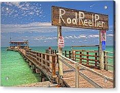 Rod And Reel Pier Anna Maria Island Acrylic Print by Jim Dohms