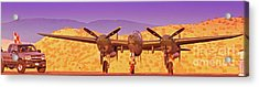 Rod Lewis' Lockheed Lightning  Glacier Girl       Acrylic Print by Gus McCrea