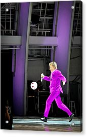 Rod Stewart Soccer Ball Acrylic Print by April Reppucci