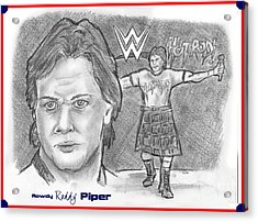 Roddy Piper Acrylic Print by Chris  DelVecchio