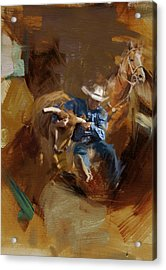 Rodeo 17 Acrylic Print by Maryam Mughal
