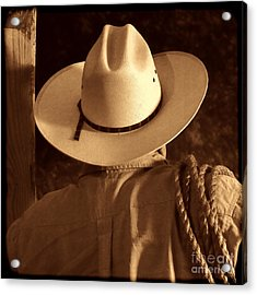 Rodeo Cowboy Acrylic Print by American West Legend By Olivier Le Queinec