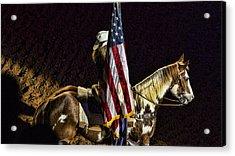 Rodeo Patriotism Acrylic Print by Stephen Stookey