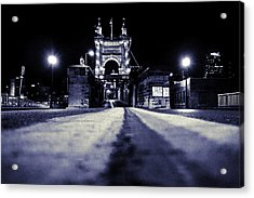 Roebling Suspension Bridge Acrylic Print