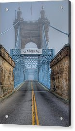 Acrylic Print featuring the photograph Roebling Suspension Bridge by Rick Hartigan