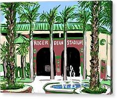 Roger Dean Stadium Acrylic Print