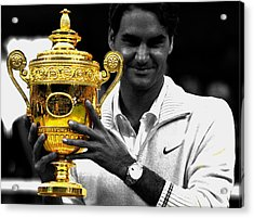 Roger Federer 2a Acrylic Print by Brian Reaves