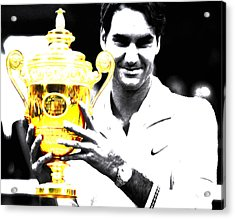 Roger Federer Acrylic Print by Brian Reaves