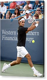 Roger Federer Acrylic Print by Keith Allen