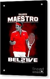 Roger Federer Maestro Acrylic Print
