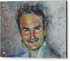 Roger Federer - Portrait 10 Acrylic Print