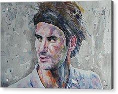 Roger Federer - Portrait 5 Acrylic Print