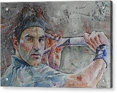 Roger Federer - Portrait 6 Acrylic Print