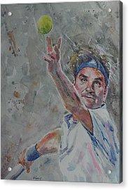 Roger Federer - Portrait 7 Acrylic Print