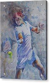 Roger Federer - Portrait 8 Acrylic Print