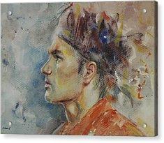 Roger Federer - Portrait 9 Acrylic Print