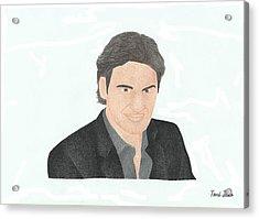 Roger Federer Acrylic Print by Toni Jaso