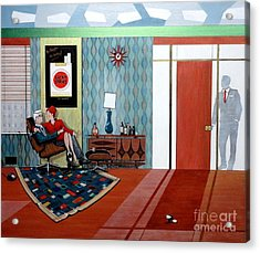 Roger Sterling And Joan Sitting In An Eames Acrylic Print