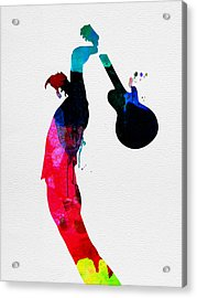 Roger Watercolor Acrylic Print by Naxart Studio
