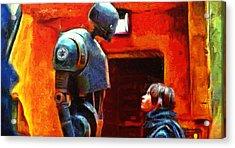 Rogue One I Will Not Kill You - Pa Acrylic Print by Leonardo Digenio