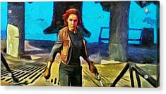 Rogue One Jyn Erso And Weapon - Da Acrylic Print