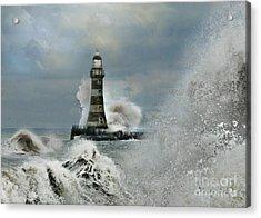 Roker Pier And Lighthouse Acrylic Print
