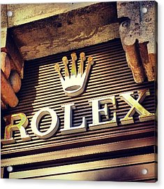 #rolex #watch #igdaily #android #ighub Acrylic Print by Tommy Tjahjono