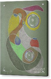 Acrylic Print featuring the drawing Roley Poley Vertical by Rod Ismay