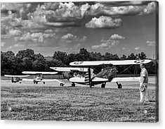Acrylic Print featuring the photograph Roll Out  For Take Off by Alan Raasch