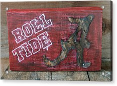 Roll Tide - Large Acrylic Print by Racquel Morgan