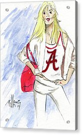 Roll Tide Acrylic Print by P J Lewis