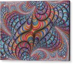 Rolled Blanket Bingo Acrylic Print
