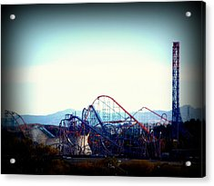 Roller Coasters At Twilight Acrylic Print