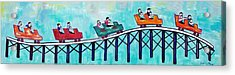 Acrylic Print featuring the painting Roller Fun by Patricia Arroyo