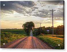 Rolling Down A Country Road Acrylic Print
