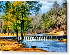 Rolling Down The River Acrylic Print by Rick Friedle