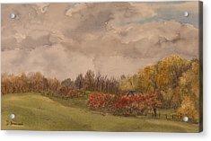 Rolling Fields In The Fall Acrylic Print by Debbie Homewood
