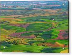 Rolling Green Hills Of The Palouse Acrylic Print by James Hammond