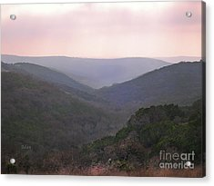 Acrylic Print featuring the photograph Rolling Hill Country by Felipe Adan Lerma