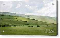 Rolling Landscape, Romania Acrylic Print