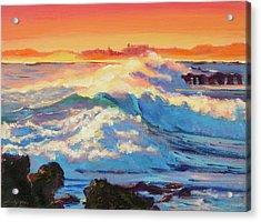 Rolling Ocean Surf - Plein Air Acrylic Print