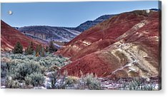 Rolling Red Acrylic Print